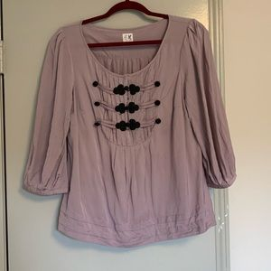 Anthro 3/4 sleeve blouse- size 12!